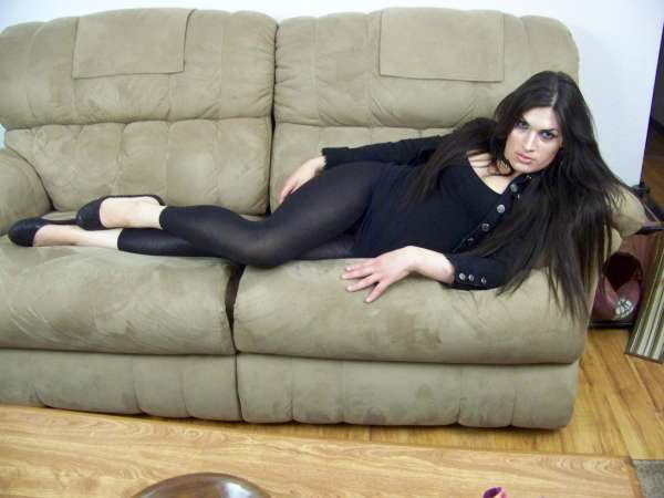 Tranny in Black Leggings 9